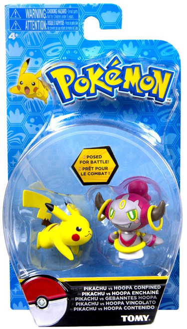 Pokemon Action Pose Pikachu & Hoopa Confined 2-Inch Mini Figure 2-Pack