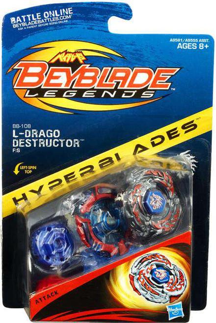 Beyblade Legends Hyperblades L-Drago Destructor Figure Pack BB-108 [BB-108, Damaged Package]