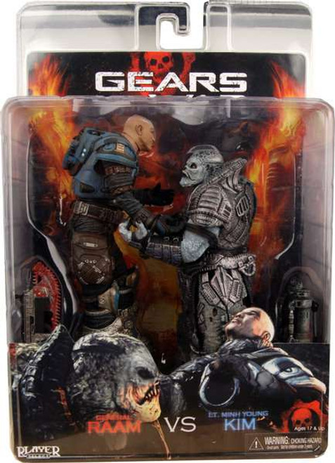 NECA Gears of War General Raam Vs. Lt. Minh Young Kim Action Figure 2-Pack