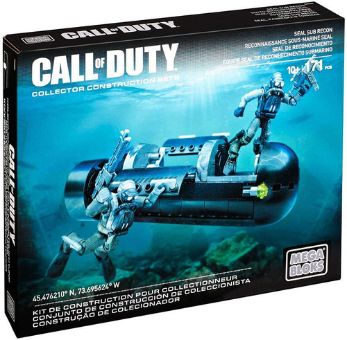 Mega Bloks Call of Duty Seal Submarine Recon Set #38149 [Damaged Package]