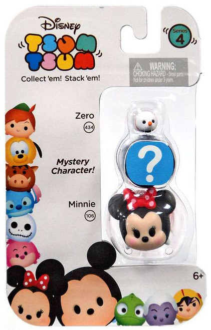 Disney Tsum Tsum Series 4 Zero & Minnie 1-Inch Minifigure 3-Pack