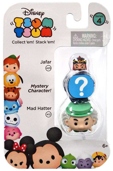 Disney Tsum Tsum Series 4 Jafar & Mad Hatter 1-Inch Minifigure 3-Pack