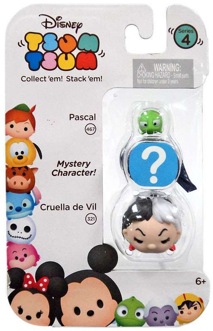 Disney Tsum Tsum Series 4 Pascal & Cruella de Vil 1-Inch Minifigure 3-Pack