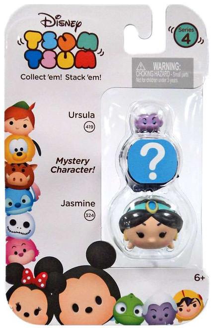 Disney Tsum Tsum Series 4 Ursula & Jasmine 1-Inch Minifigure 3-Pack