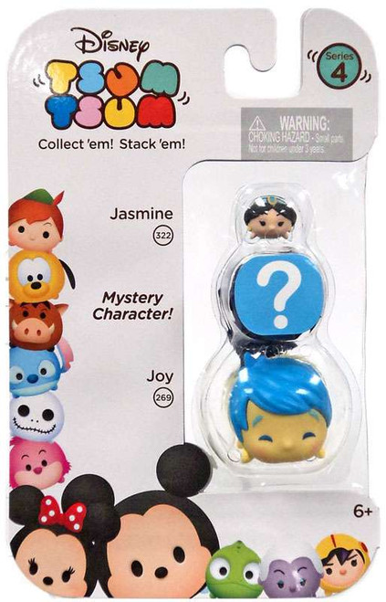 Disney Tsum Tsum Series 4 Jasmine & Joy 1-Inch Minifigure 3-Pack