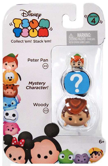 Disney Tsum Tsum Series 4 Peter Pan & Woody 1-Inch Minifigure 3-Pack