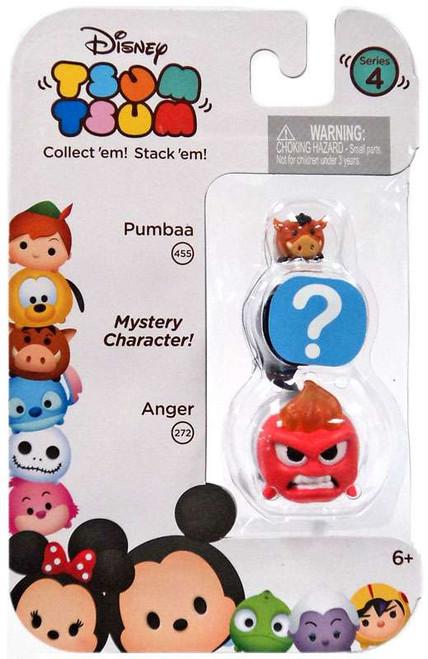 Disney Tsum Tsum Series 4 Pumbaa & Anger 1-Inch Minifigure 3-Pack