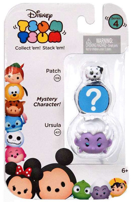 Disney Tsum Tsum Series 4 Patch & Ursula 1-Inch Minifigure 3-Pack