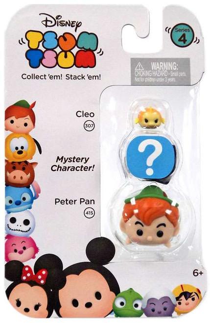 Disney Tsum Tsum Series 4 Cleo & Peter Pan 1-Inch Minifigure 3-Pack