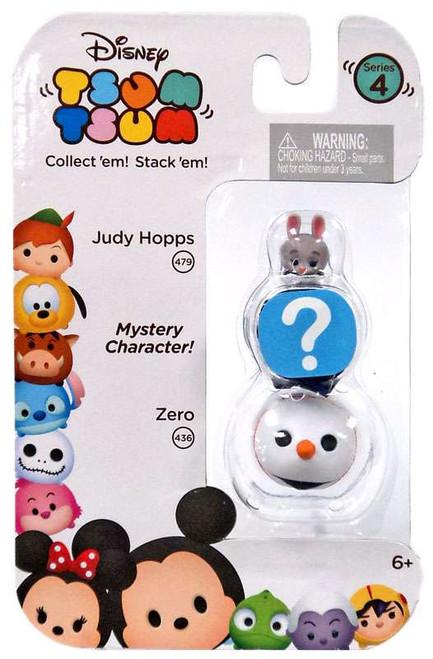 Disney Tsum Tsum Series 4 Judy Hopps & Zero 1-Inch Minifigure 3-Pack