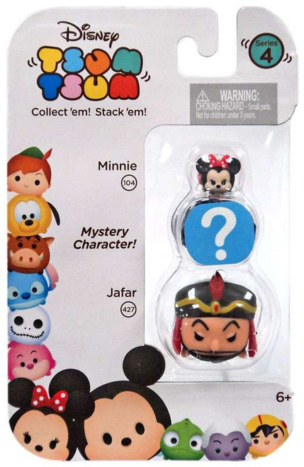 Disney Tsum Tsum Series 4 Minnie & Jafar 1-Inch Minifigure 3-Pack