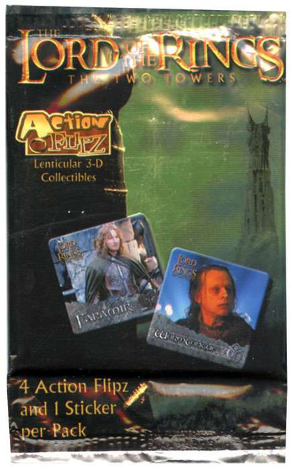 The Lord of the Rings The Two Towers Two Towers Action Flipz Card Pack