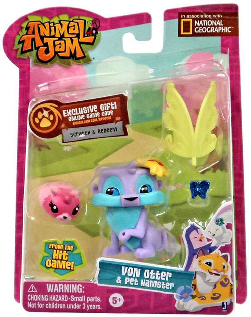 Animal Jam Von Otter & Pet Hamster Mini Figure 2-Pack