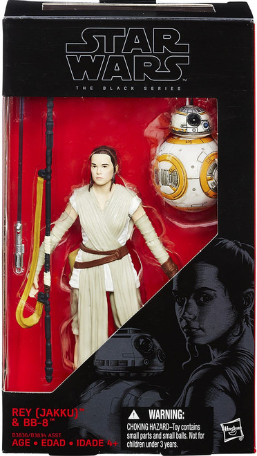 Star Wars The Force Awakens Black Series Rey (Jakku) & BB-8 Action Figure [Version 2 - Includes Lightsaber]