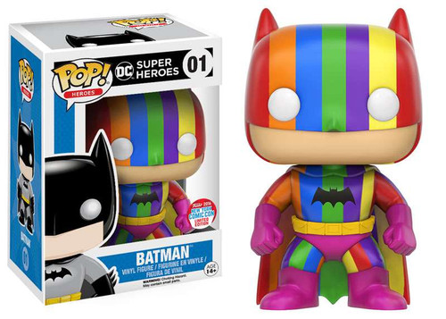 Funko DC Super Heros POP! Heroes Batman Exclusive Vinyl Figure #01 [Rainbow]