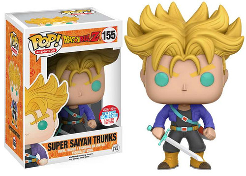 Funko Dragon Ball Z POP! Animation Super Saiyan Trunks Exclusive Vinyl Figure #155