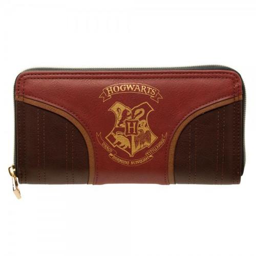 Harry Potter Hogwarts Crest Zip Around Wallet