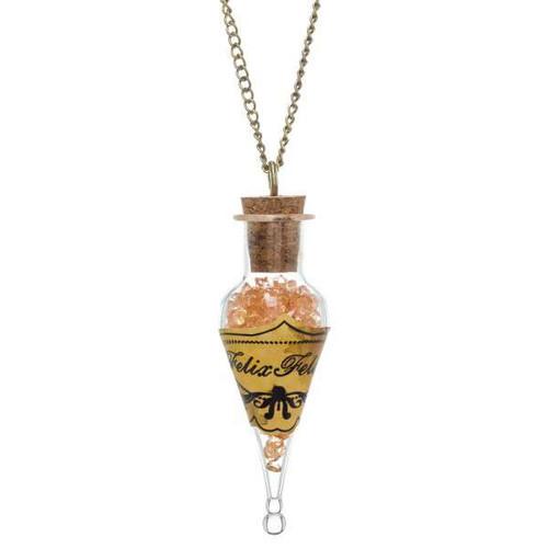 Harry Potter Felix Felicis Bottle Necklace Apparel