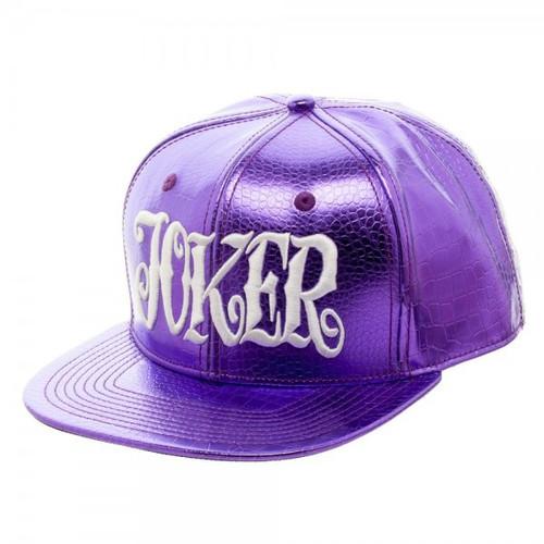DC Suicide Squad Joker Purple Snapback Cap Apparel