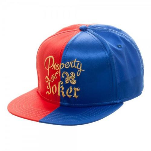 DC Suicide Squad Harley's Property of Joker Satin Snapback Baseball Cap