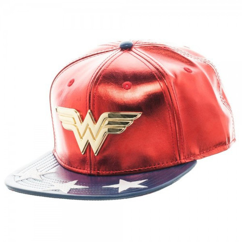 DC Wonder Woman PU Suit Up Snapback Baseball Cap