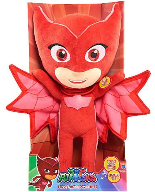 Disney Junior PJ Masks Owlette 15-Inch Plush with Sound [Sing & Talk]