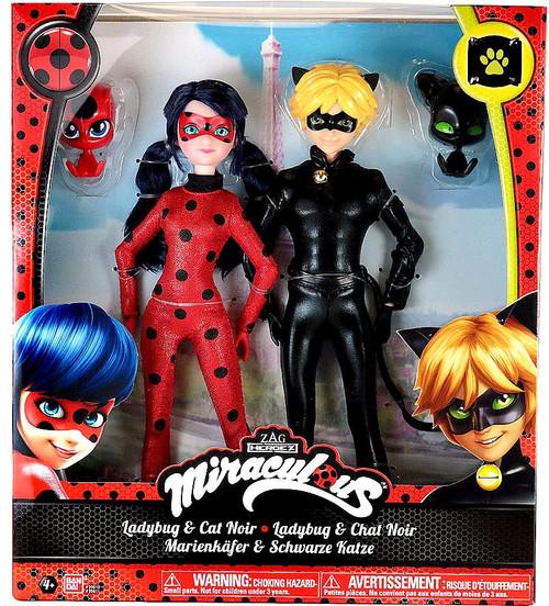 Zag Heroez Miraculous: Tales of Ladybug & Cat Noir Ladybug & Cat Noir 10-Inch Doll 2-Pack