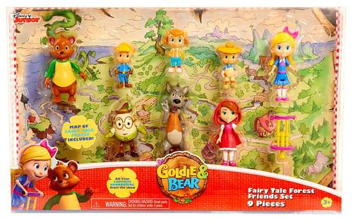 Disney Junior Goldie & Bear Fairy Tale Forest Friends Exclusive Mini Figure 9-Piece Set