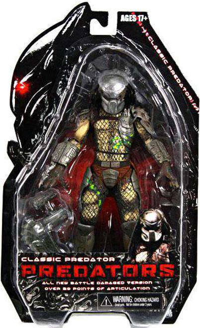 NECA Predators Series 2 Classic Predator Action Figure [Battle Damaged , Loose]