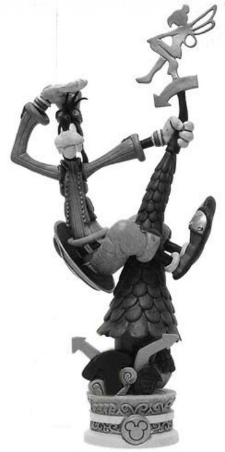 Disney Kingdom Hearts Formation Arts Series 2 Goofy Figure [Black & White]