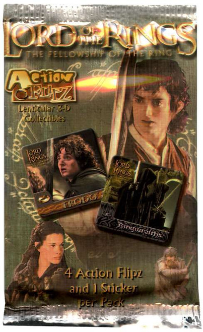 The Lord of the Rings Action Flipz The Fellowship of the Ring Trading Card Pack [4 Cards & 1 Sticker!]