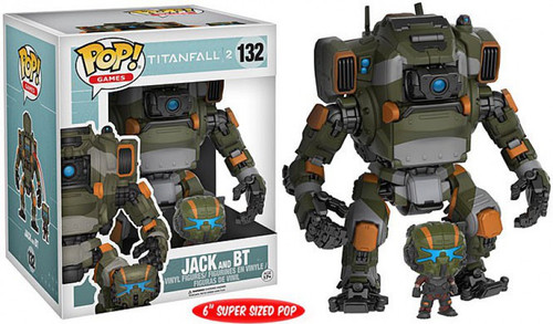 Funko Titanfall 2 POP! Games Jack & BT 6-Inch Vinyl Figure #132 [Super-Sized]
