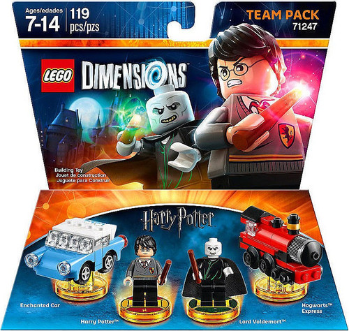 LEGO Dimensions Harry Potter Enchanted Car, Harry, Voldemort & Express Team Pack #71247
