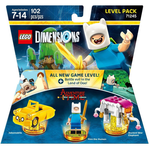 LEGO Dimensions Adventure Time Jakemobile, Finn & Ancient War Elephant Level Pack #71245