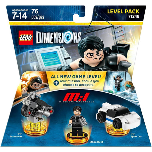 LEGO Dimensions Mission Impossible IMF Scrambler, Ethan Hunt & Sports Car Level Pack #71248