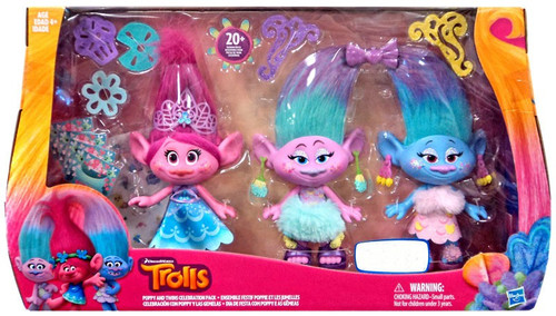 Trolls Poppy & Twins Celebration Exclusive Figure 3-Pack