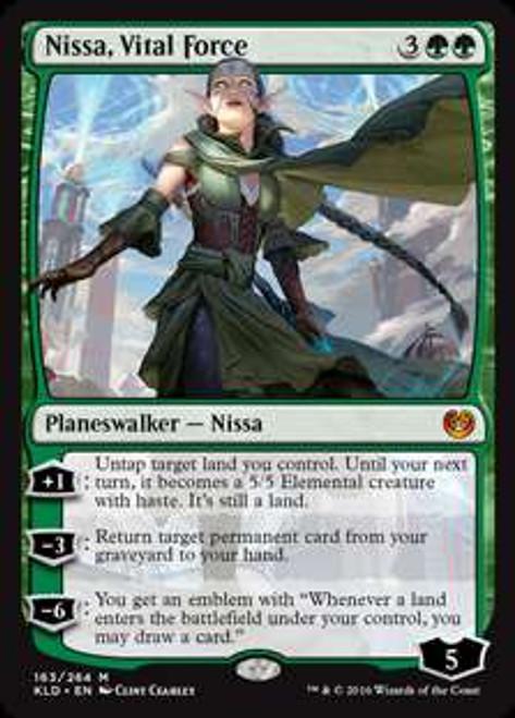 MtG Kaladesh Mythic Rare Nissa, Vital Force #163