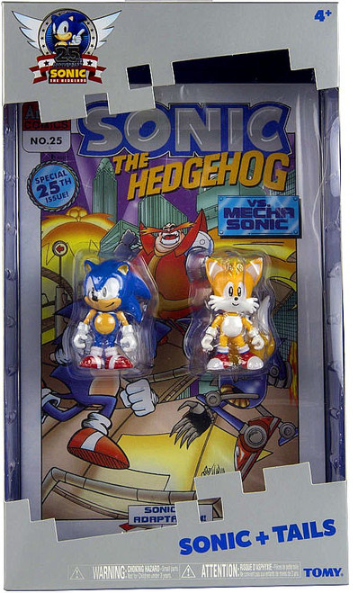 Sonic The Hedgehog 25th Anniversary Sonic & Tails Action Figure 2-Pack [With Comic Book]