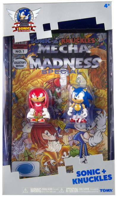 Sonic The Hedgehog 25th Anniversary Sonic & Knuckles Action Figure 2-Pack [With Comic Book]