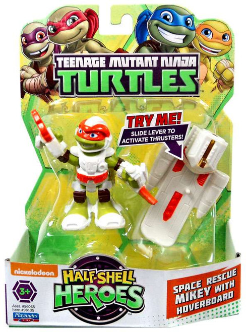Teenage Mutant Ninja Turtles TMNT Half Shell Heroes Space Rescue Mikey with Hoverboard Action Figure