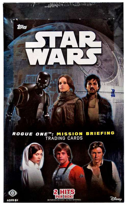 Star Wars Rogue One Mission Briefing Trading Card HOBBY Box [24 Packs, 2 Hits!]