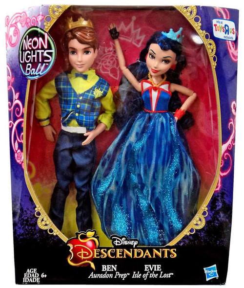 Disney Descendants Neon Lights Ball Ben & Evie 11-Inch Doll 2-Pack