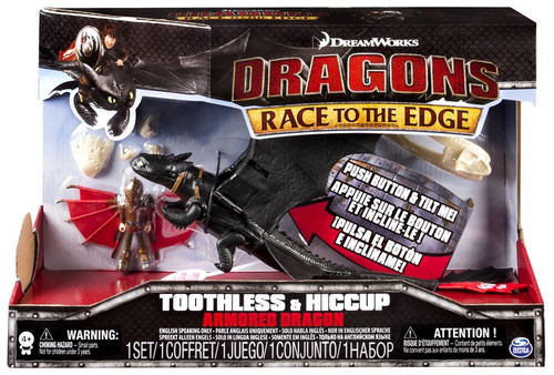 How to Train Your Dragon Race to the Edge Toothless & Hiccup Action Figure 2-Pack [Armored Dragon]
