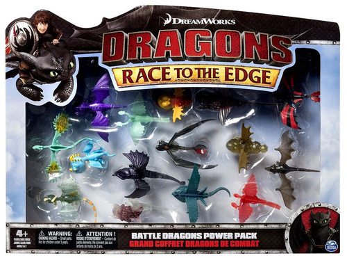 How to Train Your Dragon Race to the Edge Battle Dragons Power Pack Mini Figure 15-Pack Set