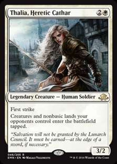 MtG Eldritch Moon Rare Foil Thalia, Heretic Cathar #46
