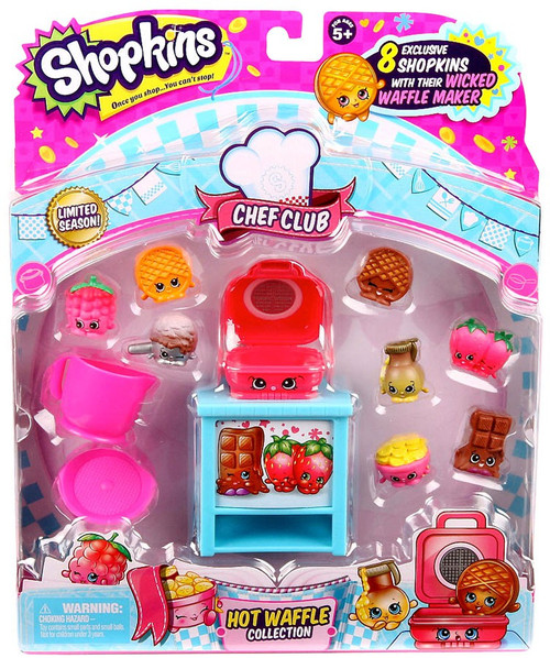 Shopkins Chef Club Season 6 Hot Waffle Mini Figure 9-Pack