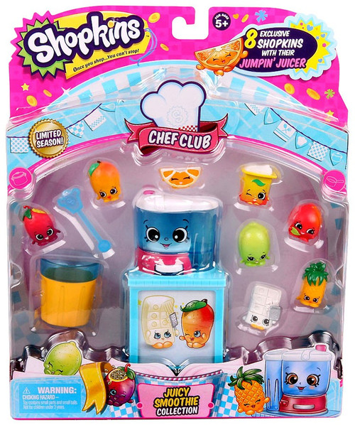 Shopkins Chef Club Season 6 Juicy Smoothie Mini Figure 9-Pack