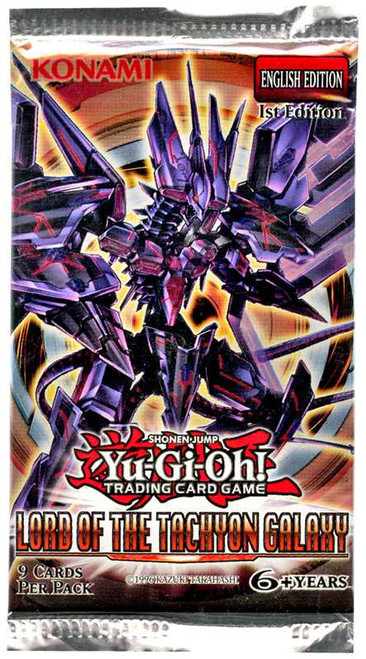 YuGiOh Trading Card Game Lord of the Tachyon Galaxy (1st Edition) Booster Pack