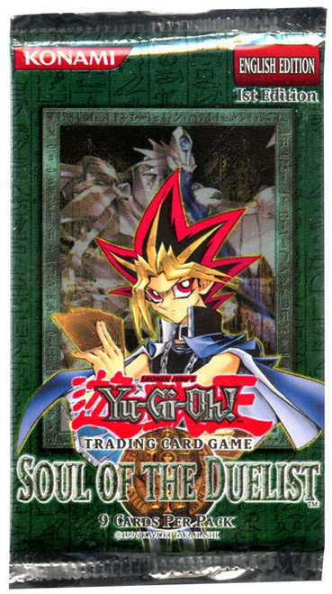YuGiOh Trading Card Game Soul of the Duelist (1st Edition) Booster Pack