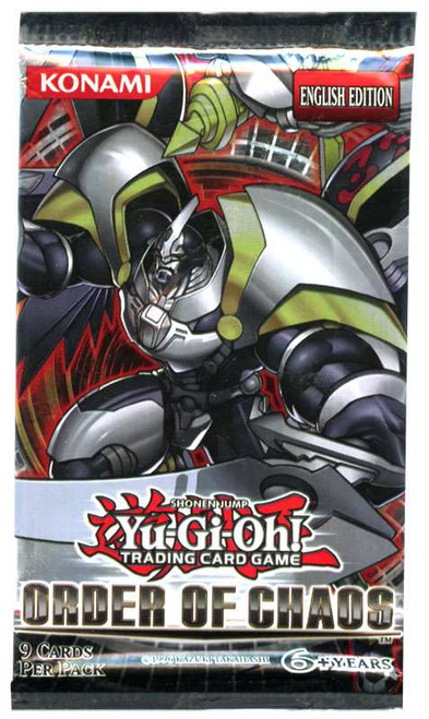 YuGiOh Trading Card Game Order of Chaos (Unlimited) Booster Pack